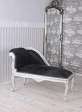 Rokoko Sitzbank Recamiere Schwarz Sofa