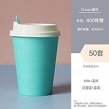 ROKTONG Bio Kaffeebecher Pappbecher Einweggeschirr