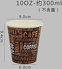 ROKTONG Pappbecher Bio Kaffeebecher