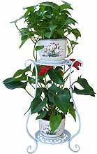 Rolanli Blumenständer Metall Blumenregal Dekor