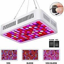 Roleadro 600W LED Pflanzenlampe mit VEG/BLOOM