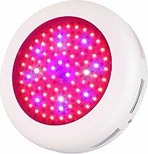 Roleadro LED Pflanzenlampe UFO LED Grow Lampe 270W Pflanzenleuchte Wachstum für Aufzucht und Blütephase im Gewächshaus mit UV IR Lich