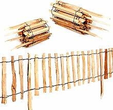 Roll-Steckzaun Haselnuss · Staketenzaun als Beeteinfassung zur Einzäunung und Abgrenzung von Beeten und Wegen · 50 x 300 cm ( Lattenabstand 5-6 cm )