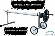 Roll thermische Poolabdeckung 4,2 Meter (Edelstahl und Aluminium) (Mit Minderer Kraft)