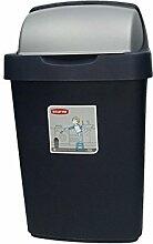 Roll Top Mülleimer Abfalleimer Eimer Abfall Küche Müll Entsorgung Kücheneimer blau 10 L