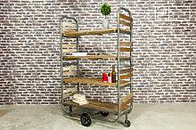 Rollbares Regal Brooklyn Industriedesign