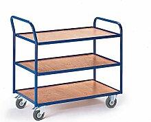 Rollcart 08-7435 Tischwagen mit 3 Etagen, RAL5010