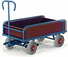 Rollcart S14-1280 2-Achs Handkarre mit Bordwand