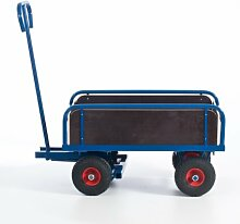 Rollcart S14-1280 2-Achs Handkarre mit Bordwand,