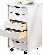 Rollcontainer Bürobedarf Stauraum Schrank rollbar Schreibtischzubehör Büromöbel Rollwagen Büro Büroschrank