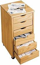 Rollcontainer, Bürocontainer mit 6 Schubladen & 4