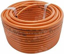 Rolle Flexible Gas 25Meter orange PVC