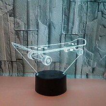 Roller 3D Nachtlicht Bunte Touch Fernbedienung Led