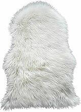 ROLLER Fellteppich - weiß - 55x80 cm