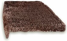 ROLLER Hochflor-Teppich Glamour - braun - 80x150 cm