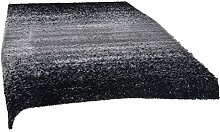 ROLLER Hochflor-Teppich - schwarz-weiß - 160x230