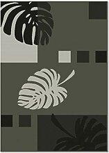 ROLLER In-/Outdoorteppich - grau - Blätterdekor -