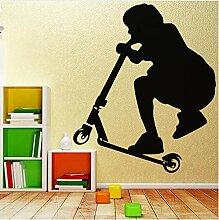 Roller Kinder Wandkunst Aufkleber Wandaufkleber