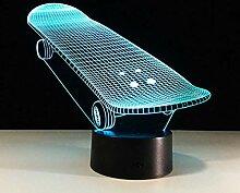 Roller Modell 3D Acryl Skate Holograma 3D Lampe