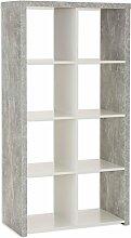 ROLLER Regal Marta - Beton-weiß - 2x4 Fächer