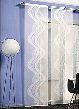 ROLLER Schiebevorhang Dorado - weiß - Transparent