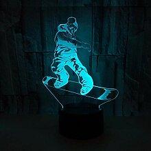 Roller-Sport der Nachtlicht-LED beleuchtet bunte