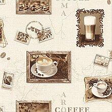 ROLLER Vinyltapete Kuba - beige-braun - Kaffee -10