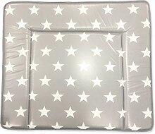 ROLLER Wickelauflage Sterne - grau - 75x85 cm