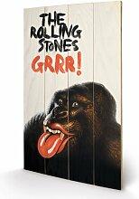 Rolling Stones Grrr! Wand-Dekoration, aus Holz, groß