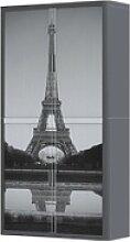 Rollladenschrank Motiv Eiffelturm, easyOffice,