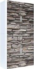 Rollladenschrank Motiv Steinwand, easyOffice,