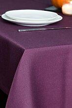 ROLLMAYER abwaschbar Tischdecke Wasserabweisend / Lotuseffekt (Melange Pflaume 215, 150x300cm) Leinenoptik Tischtuch mit pflegeleicht Fleckschutz, Rechteckig Quadratisch, Farbe & Größe wählbar