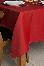ROLLMAYER abwaschbar Tischdecke Wasserabweisend / Lotuseffekt (Melange Rot 35, 150x250cm) Leinenoptik Tischtuch mit pflegeleicht Fleckschutz, Rechteckig Quadratisch, Farbe & Größe wählbar