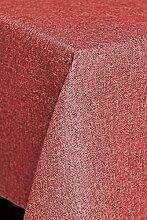ROLLMAYER abwaschbar Tischdecke Wasserabweisend / Lotuseffekt (Melange Rosa 741, 150x260cm) Leinenoptik Tischtuch mit pflegeleicht Fleckschutz, Rechteckig Quadratisch, Farbe & Größe wählbar