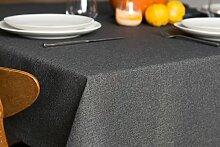 ROLLMAYER abwaschbar Tischdecke Wasserabweisend / Lotuseffekt (Melange Grau 68, 150x280cm) Leinenoptik Tischtuch mit pflegeleicht Fleckschutz, Rechteckig Quadratisch, Farbe & Größe wählbar