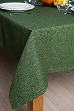 ROLLMAYER abwaschbar Tischdecke Wasserabweisend / Lotuseffekt (Melange Grün 333, 150x280cm) Leinenoptik Tischtuch mit pflegeleicht Fleckschutz, Rechteckig Quadratisch, Farbe & Größe wählbar