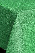 ROLLMAYER abwaschbar Tischdecke Wasserabweisend / Lotuseffekt (Melange Hellgrün 742, 150x250cm) Leinenoptik Tischtuch mit pflegeleicht Fleckschutz, Rechteckig Quadratisch, Farbe & Größe wählbar