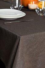 ROLLMAYER abwaschbar Tischdecke Wasserabweisend / Lotuseffekt (Melange Braun 17S, 150x220cm) Leinenoptik Tischtuch mit pflegeleicht Fleckschutz, Rechteckig Quadratisch, Farbe & Größe wählbar