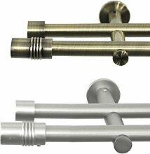 Rollmayer Metall Gardinenstange Ø 16mm Rohr,