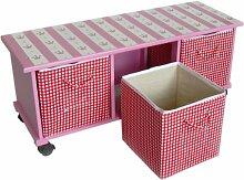 Rollregal Prinzessin Trixi Sitzbank Aufbewahrungsbox Aufbewahrungskörbe Kindermöbel Rollregal Kinderregal