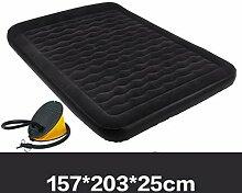 Rollsnownow Aufblasbare Bett Hause Kissen Bett im Freien tragbare Bett Welle Struktur Stützkraft stärkere dicke Beflockung eingebaute Kissen