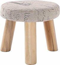 Rollsnownow Beige Alphabet Muster dreibeinigen Stuhl Runde Baumwolle Leinen Tuch Schuh Schuhe Waschbar Haushalt (28 * 28 * 25 cm)