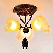Rollsnownow Deckenleuchte Kuppel Licht Eisen und