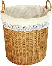 Rollsnownow Gelb Bambus Rattan Schmutzige Kleidung Lagerung Fässer Lagerung Korb Dirty Korb Kleider Korb Natürliche Pflanze Rebe Pure Hand Weaving Aufbewahrungskorb