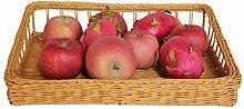 Rollsnownow Gelb Rattan Bambus Lagerung Korb Süßigkeiten Lagerung Korb Lagerung Korb Küche Lagerung Korb Set Der Korb Natürliche Pflanze Rebe Pure Hand Weaving Aufbewahrungskorb ( größe : Groß )