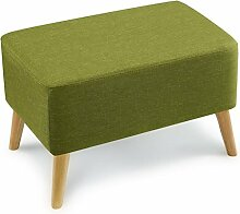 Rollsnownow Gras Grün Große Änderung Der Schuhhocker Sofa Hocker Massivholz Kurze Pedal Tuch Bett Hocker Einfache (60 * 40 cm)