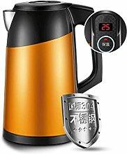 Rollsnownow Haushalt Edelstahl Elektrischer Wasserkocher Automatische Abschaltung Sicherheit Doppelte Isolierkessel Große Kapazität Orange Nach der Fertigstellung der automatischen Heizung