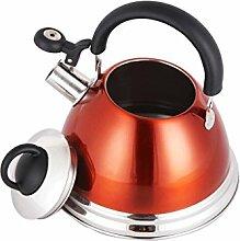 Rollsnownow Home 304 Edelstahl Wasserkocher Dicker Induktionskocher Gas General Wasserkocher Küche Restaurant Automatische Pfeife Orange 3L, 4L Nach der Fertigstellung der automatischen Heizung ( größe : 3L )
