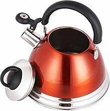 Rollsnownow Home 304 Edelstahl Wasserkocher Dicker Induktionskocher Gas General Wasserkocher Küche Restaurant Automatische Pfeife Orange 3L, 4L Nach der Fertigstellung der automatischen Heizung ( größe : 4L )