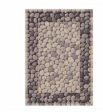 Rollsnownow Moderne einfache abstrakte Teppich Matte Matte Tür Matten Couchtisch braun weiß Polypropylen Material geschnitzt Muster rechteckig 170 * 120 cm High-End-Qualität High-Density-Bett Pedal 1 cm dick Wohnzimmer Zubehör Sofa großen Teppich